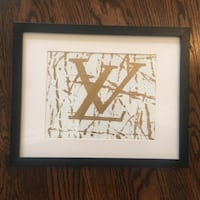 Louis Vuitton painting with black glass frame