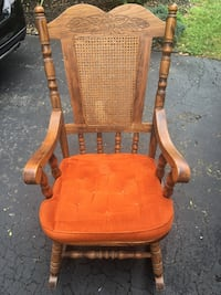 brown wooden windsor rocking chair Elizabeth, 07206