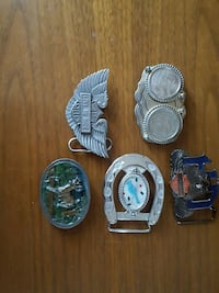 five pieces of belt buckles