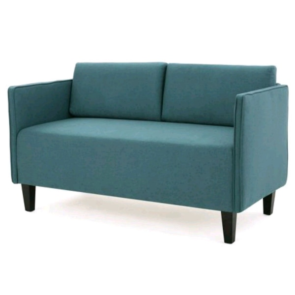New Noble House Aden 52 Inch Fabric Loveseat Teal Usado En Venta En