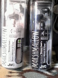 New earphones, black and white color. JVC , new Brampton, L6X 1G3