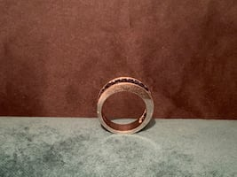 Unisex white gold ring size 4 pinky ring