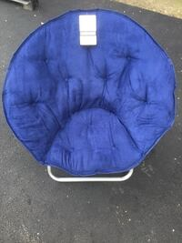 blue and white moon chair