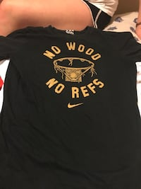 black and brown No Wood No Refs printed Nike crew-neck t-shrit Columbia, 65201