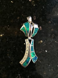 Pendant Diamond Enamel Inlay Woodbridge, 22192