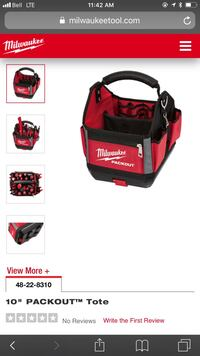 Red and black milwaukee packout bag screenshot Mississauga, L5E