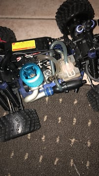 Blue and black air compressor 48 km