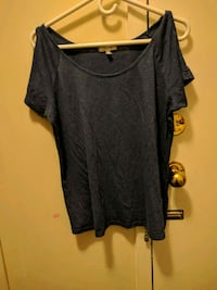 Blue womens scoop-neck over the shoulder t shirt Saint Catharines