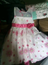 girl's white and pink floral sleeveless dress 2867 km