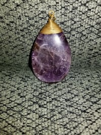 Sale! Only $10-Raw amethyst wire wrapped pendant  Redding