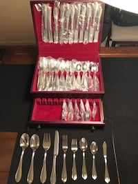 stainless steel cutlery set in case