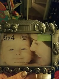 rectangular gray photo frame
