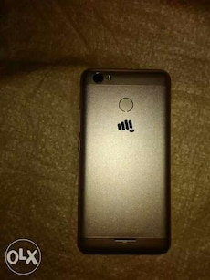 grey micromax android smartphone