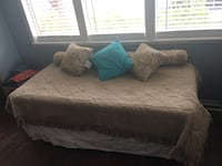 Twin size mattress with frame