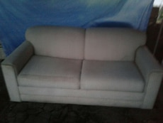 white suede couch