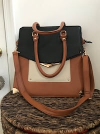brown and black leather 2-way handbag Washington, 20010