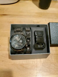 Watch, Bracelet, Money clip gift set (New)