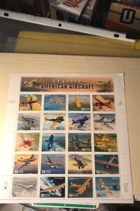 Sheet of American aircraft is stamp sheet 20 x 32c FV $6.40  Beltsville, 20705