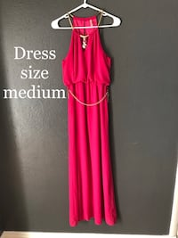 women's red sleeveless dress Colorado Springs, 80917