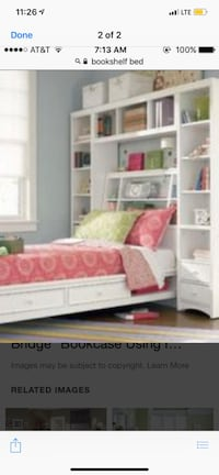 Bookshelf bed, comes in parts Vienna, 22180