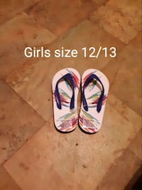 pair of white-and-pink flip flops New Iberia, 70560