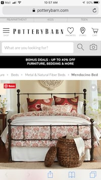 Full size Cast iron bed frame  Arlington, 22202