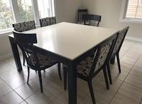 DINING TABLE WITH 6 CHAIRS Brampton, L6Y 0T7