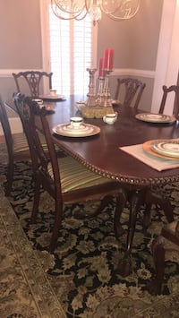 Brown wooden dining table set Milton, 30004