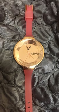 pink strap gold rumba analog watch Alnwick/Haldimand, K0K 2G0