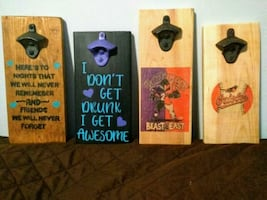 Wall mounted bottle openers handmade n custom made