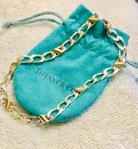 """Tiffany & Co. 18k Gold and Sterling 16"""" Cuban Link Necklace (retired) Frederick, 21701"""