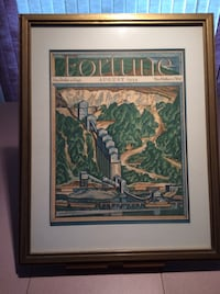 Picture - Framed Fortune Magazine Cover Art from 1934. Gettysburg, 17325