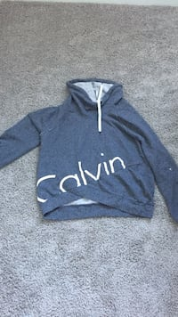 gray Calvin pullover hoodie