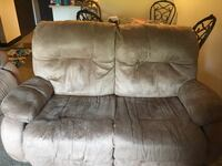 brown suede 2-seat sofa Danbury, 06810