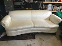 White Satin Couch Palm Coast, 32164