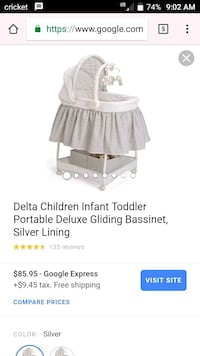 baby's gray and white Delta portable gliding bassi New Albany, 47150