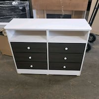 white and black wooden dresser Los Angeles, 90059