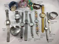 A variety of working ladies watches.  Prices vary, see all pics.  New batteries in all on them. Chesapeake, 23320