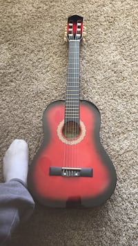 red burst classical guitar 1/2 size