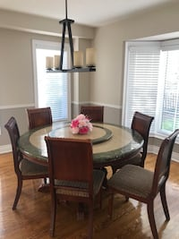 Round dinning table with six chairs Brampton, L6V 4J8