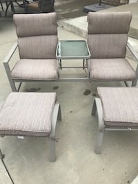 Two gray fabric padded reclining armchairs Arvada, 80007