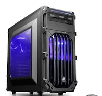 CYBERTRONPC COMPUTER DESKTOP CASE WITH 2 RED LIGHT FANS - CASE ONLY Manassas, 20109