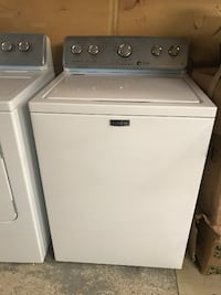 High-Efficiency White Top Load Washing Machine with Deep Water Wash and POWERWASH Cycle Farmingville