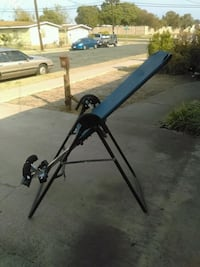 gray and black inversion table