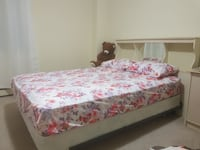 white, purple, and red floral bedspread London, N6G 3Y9