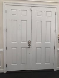 72x96 Fiberglass doors with dead bolt lock