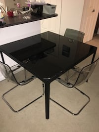 Modern Black Glass Dining Table $50 Ashburn, 20147