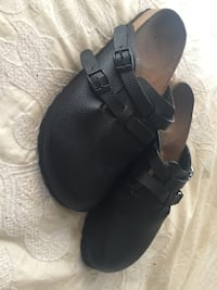Double Buckle Black Textured Size 7.5 BIRKENSTOCKS barely worn. Oxnard, 93030