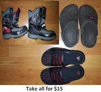 Size 12, 13 and 1 Boy Shoes Lot - 3 Pairs for $15 Mississauga