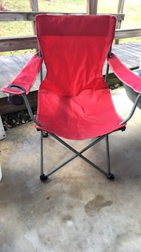 $4 red folding chair, no bag, for camping etc. Sebastian, 32976
